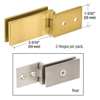 CRL Polished Brass Light Duty Frameless Shower Door Hinge - Square Corner Style CRL EH86