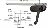 """CRL Bronze Right Hand Casement Window Operator Surface Mount With 9-1/2"""" Single Arm - EP24183"""