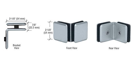 CRL Satin Chrome Estate Series 90 Degree Glass-to-Glass Clamp CRL EST111SC