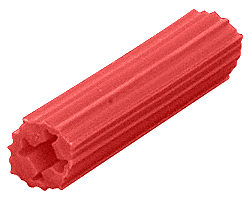 """CRL 15/64"""" Hole, 1"""" Length 7-8-9 Screw Expanding Plastic Red Screw Anchors CRL EXP2003"""