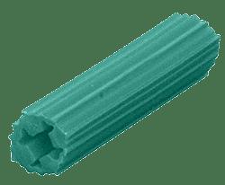 "CRL 1/4"" Hole, 1"" Length 10-12 Screw Expanding Plastic Green Screw Anchors CRL EXP2005"