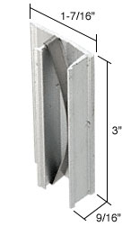 Aluminum Sliding Window Pull and Latch for International Roller King-Queen Windows - CRL F2521