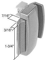 Gray Sliding Window Latch and Pull 1-3/4 inch Screw Holes for Crossly Windows - CRL F2529