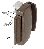 Bronze Sliding Window Latch and Pull 1-3/4 inch Screw Holes for Crossly Windows - CRL F2530