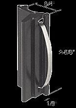 CRL Black Sliding Window Latch and Pull for Bee Cee Windows CRL F2548