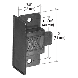"""CRL Black Sliding Window Latch and Pull with 1-9/16"""" Screw Holes for Window Master Series 216 Windows CRL F2611"""