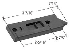 Black Tilt Window Lock With 2-5/16 inch Screw Holes - CRL F2697