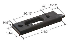 Black Tilt Window Latch With 2-5/16 inch Screw Holes - CRL F2725