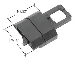 Black Tilt Reversible Window Latch for Keller - CRL F2769