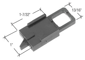 Black Tilt Window Latch for Binnings Windows - CRL F2770