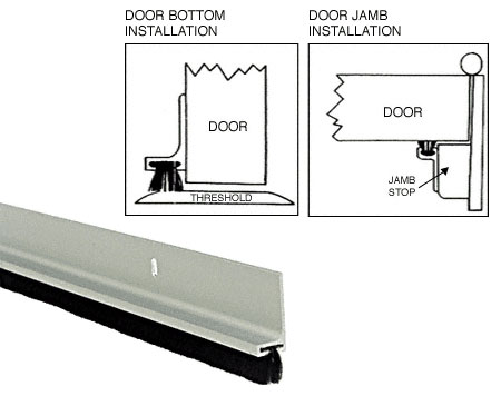 Aluminum Finned Door Sweep - CRL FS77A_CS