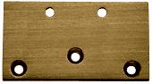 CRL Antique Brass Geneva Series 044/544 Wall Mount Offset Plate CRL G044ABR