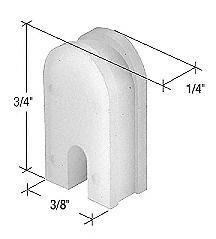 """CRL 3/8"""" Wide Nylon Sliding Window Top Guide for International Windows CRL G3026"""