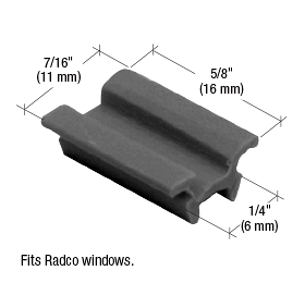 "CRL 7/16"" Window Top Guide for Radco CRL G3028"