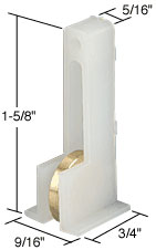 "Sliding Window Roller with 1/2"" Steel Wheel for HiLite Windows - CRL G3075_OS Pack of 2"