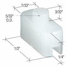 """CRL 1/4"""" Nylon Window Bottom Glide for Alenco CRL G3096"""