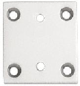 CRL Satin Chrome Geneva Series 074/574 Wall Mount Short Back Plate CRL G3SBYSC