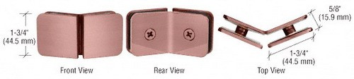 Brushed Copper Traditional 135 Degree Glass Clamp - CRL GCB135BC0