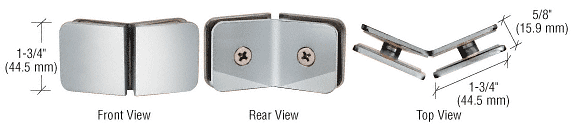 CRL Polished Chrome 135 Degree Traditional Style Glass-to-Glass Clamp CRL GCB135CH