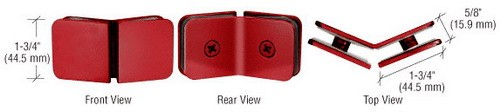 Red Traditional 135 Degree Glass Clamp - CRL GCB135RD