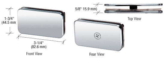 CRL Polished Chrome 180 Degree Traditional Style Glass-to-Glass Clamp CRL GCB180CH