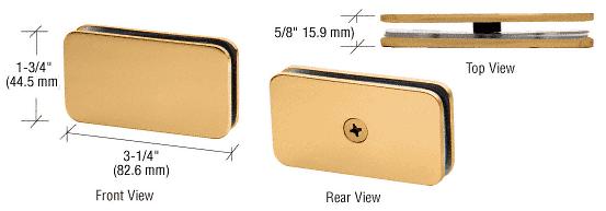 CRL Satin Brass 180 Degree Traditional Style Glass Clamp CRL GCB180SB