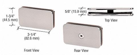 CRL Satin Nickel 180 Degree Traditional Style Glass Clamp CRL GCB180SN