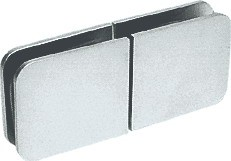 Brushed Satin Chrome Traditional Movable Glass-To-Glass Transom Glass Clamp - CRL GCB188BSC