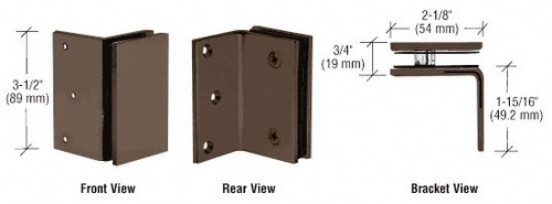 Oil Rubbed Bronze Geneva Series Wall Mount Bracket - CRL GE90SORB