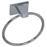 "CRL Brushed Nickel Geneva Series 6"" Diameter Towel Ring CRL GEN820BN"