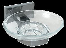 CRL Brushed Nickel Geneva Series Soap Dish CRL GEN850BN