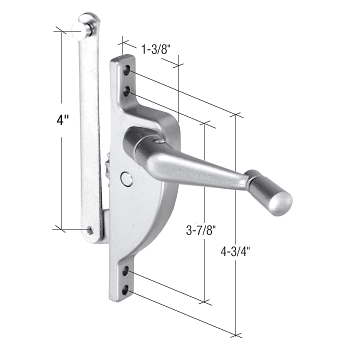 "CRL Right Hand Jalousie Window Operator - 4"" Link CRL H3550"