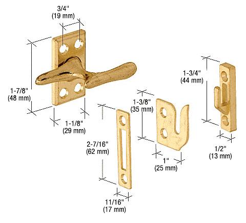 CRL Brass Casement Sash Lock CRL H3553