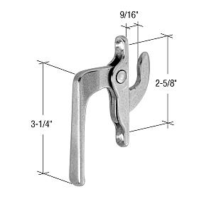 "CRL Left Hand Casement Window Locking Handle 2-5/8"" Screw Holes CRL H3563"