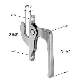 "CRL Right Hand Casement Window Locking Handle 2-5/8"" Screw Holes CRL H3564"