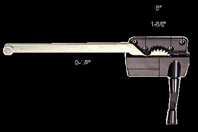 """CRL Bronze 9-1/2"""" Right Hand Casement Window Operator CRL H3569"""