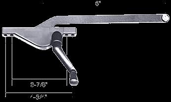 "CRL Aluminum 6"" Left Hand Teardrop Style Casement Window Operator CRL H3581"