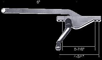 "CRL Aluminum 6"" Right Hand Teardrop Style Casement Window Operator CRL H3582"
