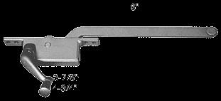 "CRL Aluminum 6"" Left Hand Square Style Casement Window Operator CRL H3585"