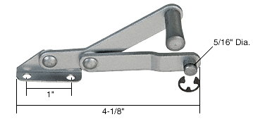 CRL Left Hand Louver or Jalousie Window Operator for International CRL H3617