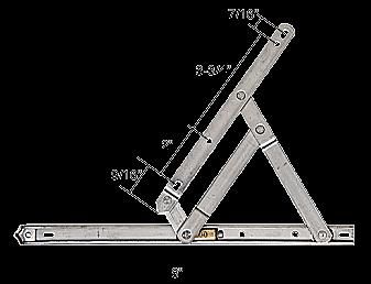 """CRL 8"""" Standard Casement 4-Bar Window Hinge CRL H3626"""