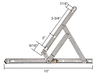 """CRL 10"""" Standard Casement 4-Bar Window Hinge CRL H3627"""