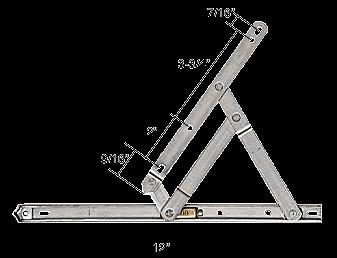 """CRL 12"""" Standard Casement 4-Bar Window Hinge CRL H3628"""
