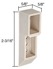 2-3/16 Inch Nylon Sash Cam - CRL H3837 Pack of 2