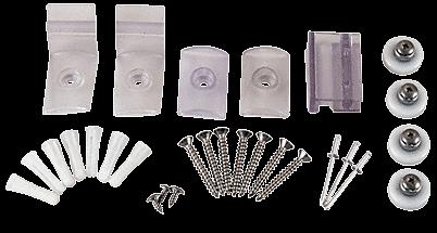 """CRL Brite Anodized Frameless Sliding Shower Door Hardware Package for 1/4"""" Glass CRL HP14BA"""