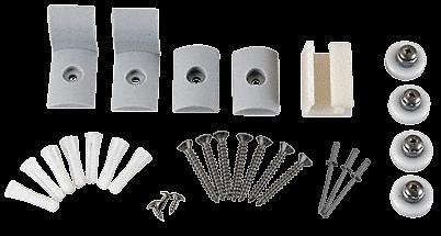 """CRL Brushed Nickel Frameless Sliding Shower Door Hardware Package for 3/8"""" Glass CRL HP38BN"""