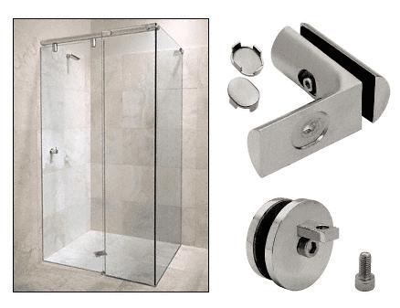 CRL Brushed Nickel Hydroslide 90 Degree Wall-to-Glass Sliding Shower Door Accessory Kit CRL HYDA9BN