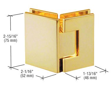 CRL Brass Junior Geneva 045 Series 135 Degree Glass-to-Glass Hinge CRL JRG045BR