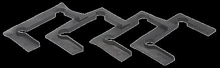 CRL Black Gasket Replacement Kit for Junior Geneva Hinges CRL JRG4GK1
