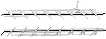30 inch Jalousie Strip Hardware - 8 Blades - CRL JSH30 1 Pair